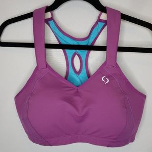 Moving Comfort Purple Sports Bra Padded Size 40D